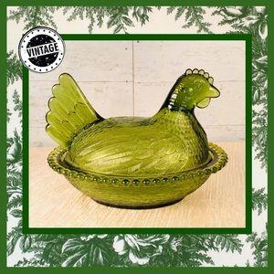 🏡 Vintage Indiana Depression Glass Hen
